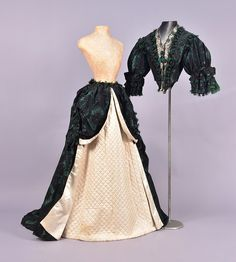Two-Piece Gown (image 1)   1860s   silk brocade   Whitaker Auctions   Spring 2017