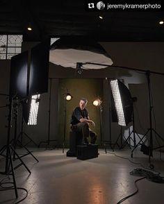 Behind the scenes by @jeremykramerphoto |  2 of 2: Charles #BTS #captureonepro #profotousa #canon5ds #studio #portrait #cincinnatiphotographer #jeremykramerphoto Photography Studio Spaces, Photography Set Up, Photography Lighting Setup, Studio Portrait Photography, Portrait Lighting, Lighting Setups, Photo Lighting, Studio Lighting, Photography Backdrops