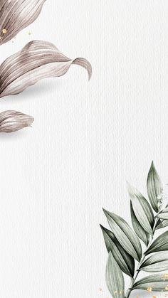 Handy Wallpaper, Plant Wallpaper, Watercolor Wallpaper, Flower Wallpaper, Mobile Wallpaper, Pattern Wallpaper, Wallpaper Backgrounds, Butterfly Background, Leaf Background