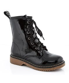 This Black Patent Toby Boot by Lady Godiva is perfect! #zulilyfinds