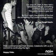 The stonewall riots are considered to be the single most important event that started the gay rights movement, that still continues to this day. This event brought the gay rights movement out of. Gay Rights Movement, Stonewall Riots, Stonewall Inn, Lgbt History, Gay Pride, Inspire Me, Lesbian, Something To Do, Photos