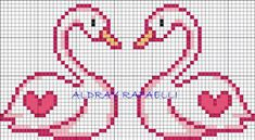 The Most Beautiful Cross Stitch Pattern Cute Cross Stitch, Cross Stitch Heart, Cross Stitch Animals, Cross Stitch Designs, Cross Stitch Patterns, Cross Stitching, Cross Stitch Embroidery, Embroidery Patterns, Broderie Bargello