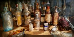 $37 Mike Savad - These are all patent medicines. Used to cure all kinds of woes. Anything from an upset stomach, to kidney trouble. The cough syrup is probably the only one we still probably use today. #savad #medicine #doctor