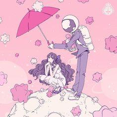 恋する全ての人へ♡MAJOLICA MAJORCAの甘い関係を引き寄せるおまじないを|MERY [メリー] Aesthetic Art, Aesthetic Drawings, Space Anime, Pinterest Design, Manga Art, Manga Anime, Anime Art, Pretty Art, Cute Art