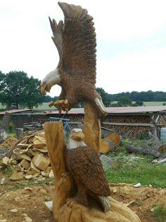 Kettensägenkunst Adler