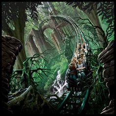 Dark Forest concept art by Drew Wilson - Scruffy Dog loves this!