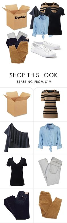 """Donate my clothes"" by rainbows12302 ❤ liked on Polyvore featuring interior, interiors, interior design, home, home decor, interior decorating, Lands' End, Simplex Apparel, Current/Elliott and True Religion"