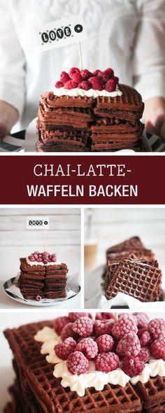 Rezept für süße Chai-Latte Waffeln mit Topping, Frühstücksrezepte / breakfast recipe: chai latte waffles via DaWanda.com