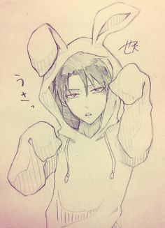 Rivaille (Levi) OMG kawaii~~ hehehe always dreamed of seeing him dressed like a rabbit