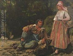 Leon Louis Antoine Riesener:The Shepherd And The Shepherdess