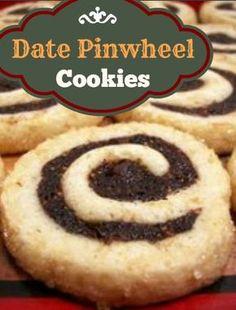 Date Pinwheel Cookie Recipe   whatscookingamerica.net #date #pinwheel #cookie #christmas