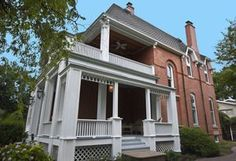 Gorgeous porch on this Riverside home for sale