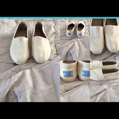 Canvas toms Beige canvas toms. I wore them twice inside my house. Just like new TOMS Shoes Flats & Loafers