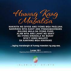 Bible Verses Quotes Inspirational, Bible Quotes, Luke 18 1, Inc Logo, Media Quotes, Biblical Verses, Bible Encouragement, Churches Of Christ, Tagalog