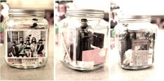 time capsule jars. ... I sort of want to do this for myself. Starting now. I have random ticket stubs and trinkets that are all over the place. It'd be fun to go through the jar at the end of the year and see what was thrown in there.