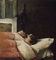 "Andrew Wyeth, Marriage, 1993. Tempera on panel, 24 x 24"" (61 x 61 cm)."