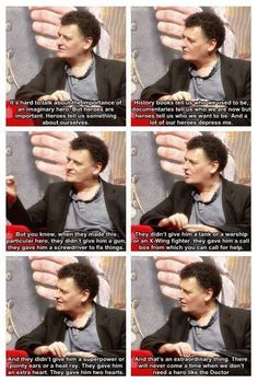 Moffat explaining why the Doctor is a hero. LOVE.