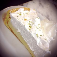 Key Lime Pie + Coconut Cream - like the take on the coconut cream topping. May need to try this next time I make key lime pie! Lime Desserts, Party Desserts, Delicious Desserts, Dessert Recipes, Healthy Desserts, Recipes With Coconut Cream, Pie Coconut, Mango Cheesecake, Coconut Cheesecake