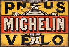 BIBENDUM | High in the rafters, is a rather nice tin sign.