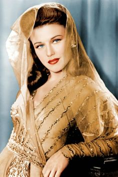 Ginger Rogers, 1942. Ginger knew all about the power of embellishment. This was her official portrait taken by Paramount Studios.