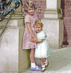 Princess Elizabeth, later Queen Elizabeth II, and her sister Princess Margaret. 'Margaret always wants what I want,' was a common complaint