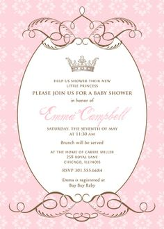 By  Royal Decree Baby Shower Invitation by paperimpressions, $27.00