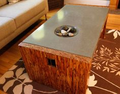 Customer Concrete Coffee Table - made with CHENG Pro-Formula Mix in Charocal, by Yves. St. Hilare from British Columbia