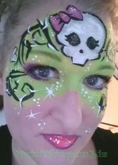 Monster High Halloween face painting Lisa joy young inspired design paintslingers.biz