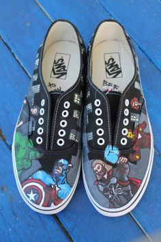 Those Marvel Avengers vans r cool. I want them.