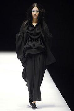 layers, texture, in black - yohji yamamoto
