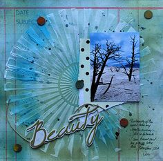 Love the textures! - Vintage Street Market with Tattered Angels Glimmer Mists and Texture Paste by Nat Kalbach Scrapbook Pages, Scrapbooking, Tree Stands, Modeling Paste, Texture Paste, Creating A Blog, Emboss, Mists, Journaling