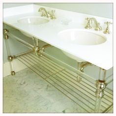 Image result for sink with lucite legs and shelf