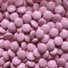 """Pink M&M's Candy. The perfect chocolate candy for pink themed events and parties like weddings, """"It's a Girl"""" baby showers, birthday parties, etc. Approx. 500 M&M's per lb.  #Chocolate"""