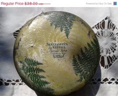 ON SALE Antique French Candy Tin Box 1850's by SophieLadyDeParis, $34.20