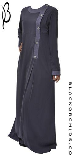 Jawhara - (серый мергель) Hijab Fashion 2016, Abaya Fashion, Modest Fashion, Fashion Dresses, Womens Fashion, Muslim Dress, Hijab Dress, Hijab Outfit, Islamic Fashion