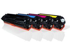 Alternativ zu HP CB540A bis CB543A Toner Spar-Set