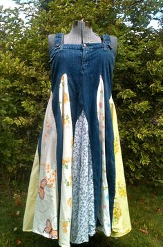 CUSTOM UpCycled Twirly Jean Dress by askewasyou on Etsy, $78.00