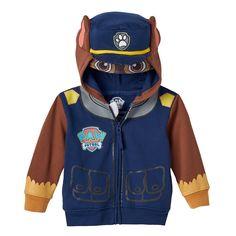 Toddler Boy Paw Patrol Chase Costume Hoodie, Blue (Navy)