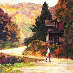 Jun Kumaori's beautiful paintings. #paint #illustration #color