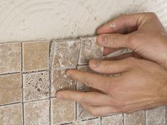 to Install a Kitchen Tile Backsplash Learn how easy it is to install a kitchen tile backsplash with these step-by-step instructions from HGTV.Learn how easy it is to install a kitchen tile backsplash with these step-by-step instructions from HGTV. Kitchen Redo, Kitchen Backsplash, Backsplash Ideas, Install Backsplash, Kitchen Ideas, Tile Ideas, Backsplash Design, Mosaic Backsplash, Kitchen Makeovers
