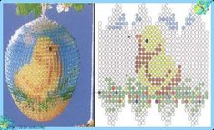 Easter Egg Bead Chick Schema