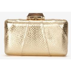 Kotur Espey Gold Minaudiere Clutch ($560) ❤ liked on Polyvore