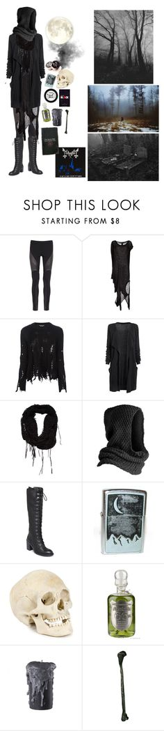 """""""When it's dark...And when it's cold...The freezing moon can obsess you"""" by morbid-octobur ❤ liked on Polyvore featuring Haute Hippie, Barbara I Gongini, Junya Watanabe Comme des Garçons, Religion Clothing, Pieces, Nine West, Manic Panic NYC, Market, Lady Grey and vintage"""
