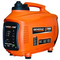 This Generac inverter is very compact and significantly less money than the competitors. With an 800 watt inverter you can power a few small items for a decent price. Most people that are looking for a generator this small plan to run it at the campsite or to power a few lights, a laptop, a box fan or even charge a battery.     One of the benefits of inverters are the clean power they produce. Another attractive feature to an inverter this small, is size. This item weighs less than 28 pounds.