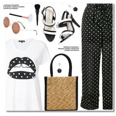 Polka Dots by paculi on Polyvore featuring polyvore, fashion, style, Markus Lupfer, Ganni, Oscar de la Renta, clothing and PolkaDots