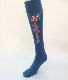 Soxtrot Logo Air Force Blue Adult knee hi