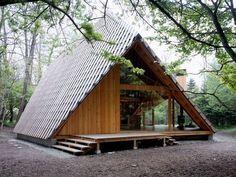 (Source: outsidethecity) Aframe guest house