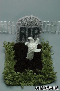 "Rad (free!) ""Hand from the grave"" crochet pattern from @Croshame (via @PlanetJune) #Halloween #Crochet #pattern"