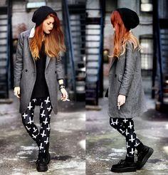 She Inside Coat, Black Milk Clothing Black Milk Leggins