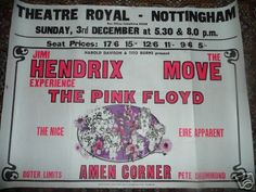 Pink Floyd on the same bill as Jimi Hendrix! Theatre Royal in Nottingham
